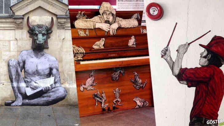 Bu çizerin Paris duvarlarına resmettiği 110 sokak sanatına bayılacaksınız