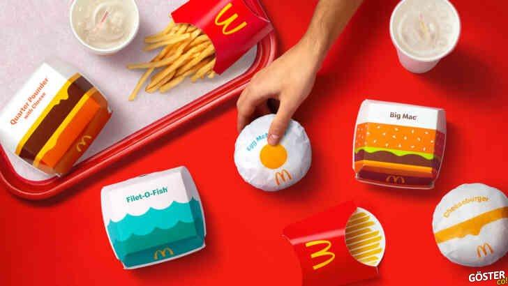 McDonald's ambalajları, Pearlfisher tarafından sadeleştirilerek yeniden tasarlandı