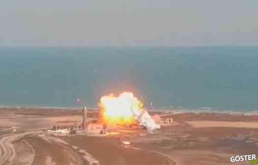 SpaceX Starship SN9 test bitişinde başarılı dikey iniş yapamayıp patladı