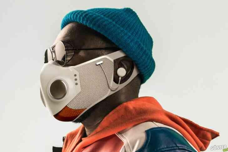 Honeywell ve rapçi Will.i.am, yerleşik kablosuz kulaklıklara sahip fütüristik maske çıkardı