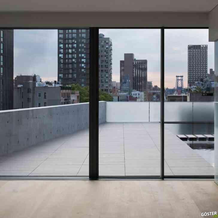 Tadao Ando'nun New York penthouse'unun Eric Petschek tarafından çekilen fotoğrafları