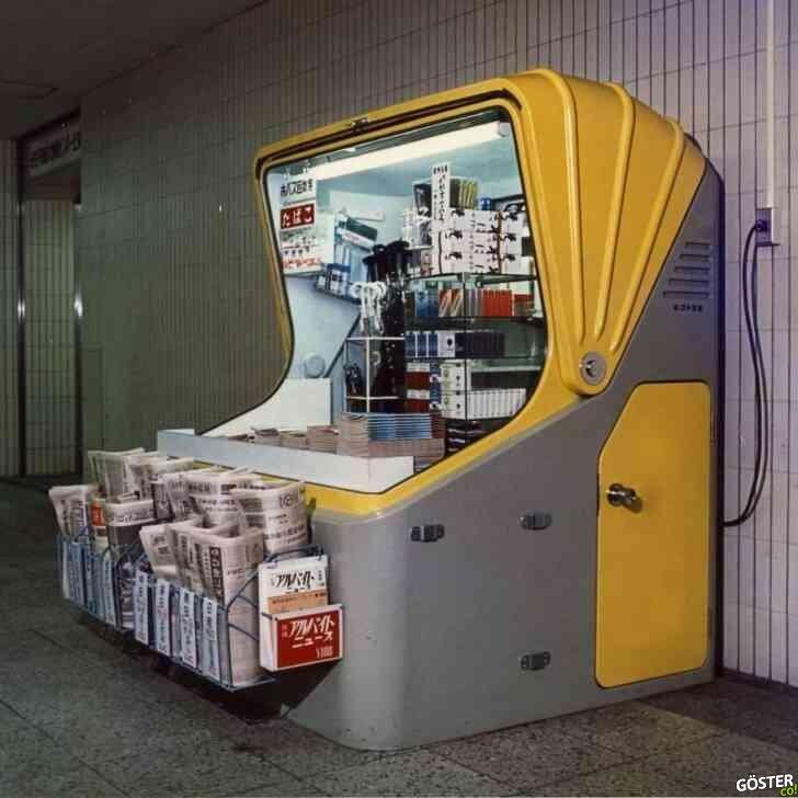 Sori Yanagi'nin 1972 yılında tasarladığı, bugün bile yenilikçi görünen kiosk