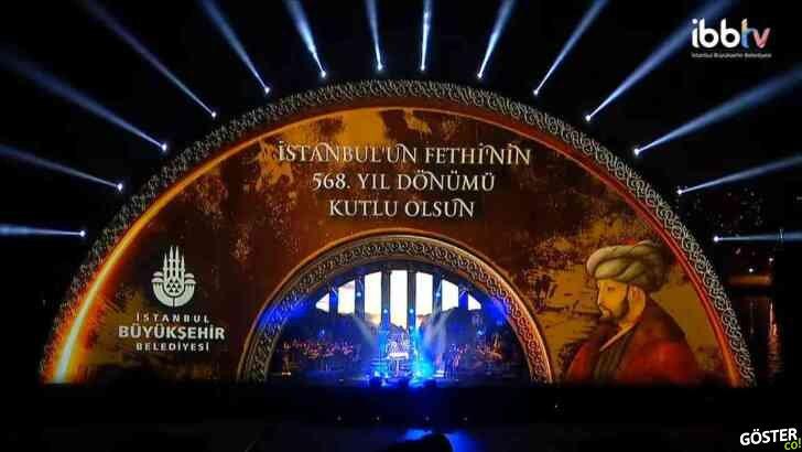 """İBB'den etkileyici """"İstanbul'un Fethi'nin 568. Yılı Görsel Şöleni"""""""