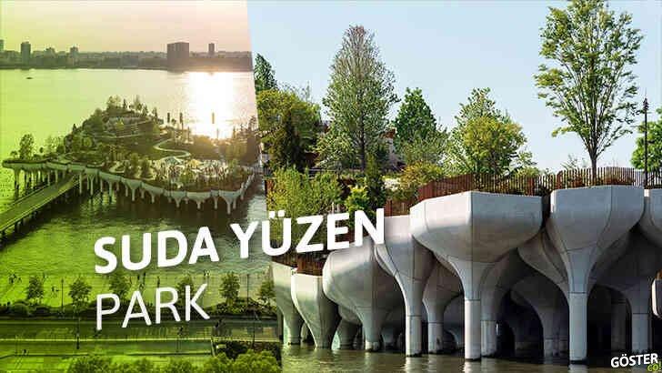 New York Şehri'nin, Hudson Nehri üzerinde yepyeni bir 'yüzen parkı' var