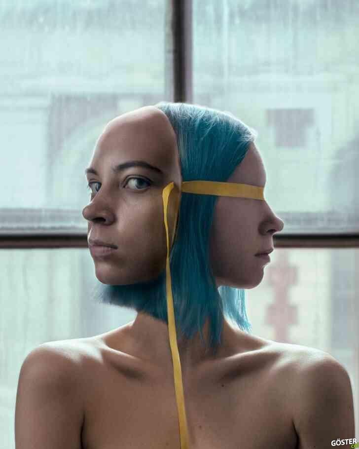 Elina Raincorn, kendi fotoğraflarını manipüle ederek sanat yaratıyor