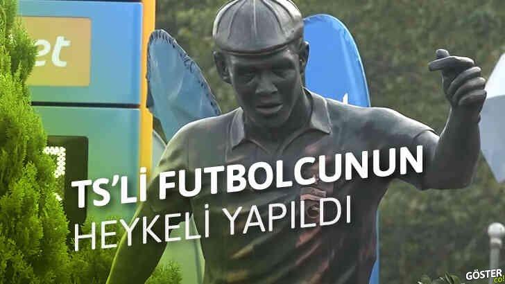 """""""Onların Alex'i varsa bizim Nwakaeme'miz var"""" diyerek, Trabzonsporlu futbolcunun heykeli dikildi"""