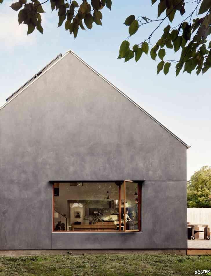Austin'deki, bir fotoğrafçı için inşa edilen muhteşem üçgen çatılı ev